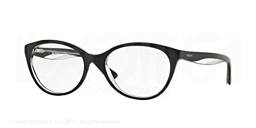 Vogue VO2962 Eyeglass Frames W827-51 - Top Black/Transparent - Glasses Vogue Frames Prices