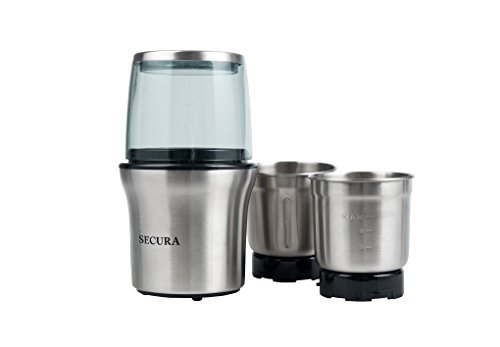 Electric Spice Grinder ~ Secura electric coffee grinder spice with