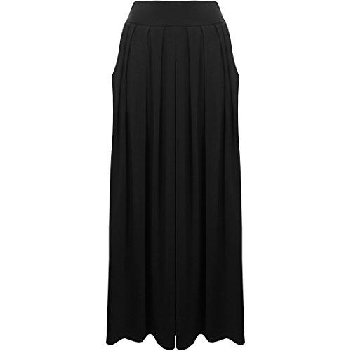 Uni Poches lastique jupe Clothing Maxi pour Taille Desire femme pliss Noir rgfxHSqwrR