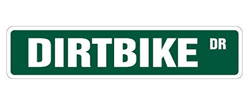 (Cortan360 DIRTBIKE Street Sign motocross racer racing signs BMX| Indoor/Outdoor | 8
