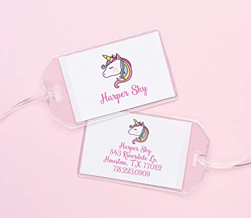 - Personalized Unicorn Luggage Tag,Personalized backpack tags for girls, Diaper bag tags, Personalized tags for her, Unicorn diaper bag tag, Your choice of color