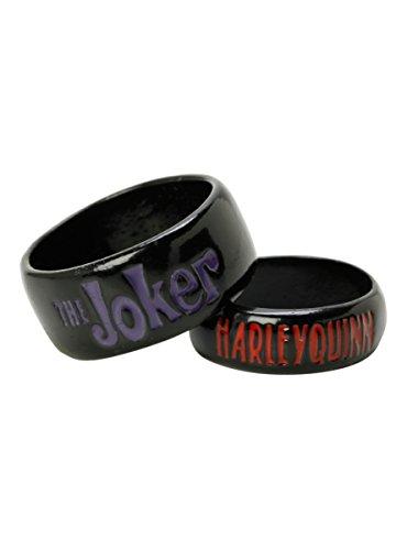 DC Comics The Joker Harley Quinn Ring Set (Joker Harley Quinn Costumes)