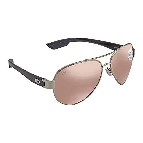 Costa Del Mar South Pt. Sunglasses Palladium Silver/Copper Silver Mirror 580Glass (Costa Del Mar Palladium)