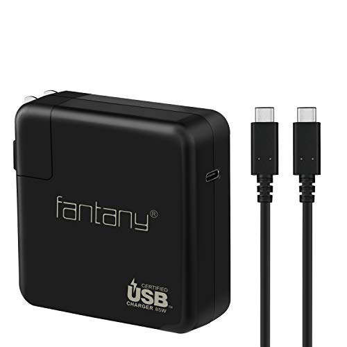 Fantany USB-IF Certified 85W USB-C Power Adapter USB C PD Charger, Included 6ft Max 100W USB-IF Certified USB C to C Charging Cable