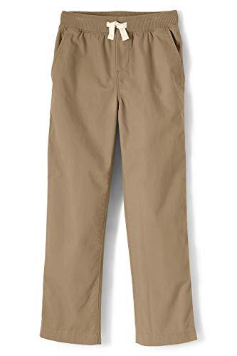 Lands' End Boys Husky Iron Knee Pull On Pants Light Beige ()