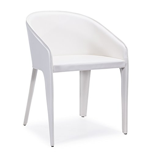 Amazon.com - Bellini Modern Living WHT Antonia Dining Chair, White - Chairs
