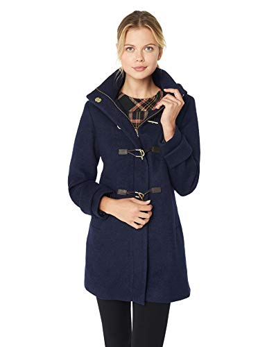 Vince Camuto Women's Toggle Coat, Navy, Large - Womens Toggle Coat