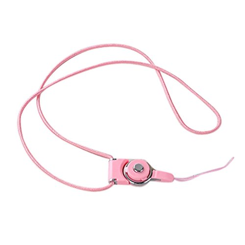 Neck Lanyards Cords Straps (Aobiny Cell Mobile Phone Dangle Strap Lariat Charm Lanyard Cord Detachable Neck Strap For Cell Phone Mp3 Mp4 ID Card (Pink))