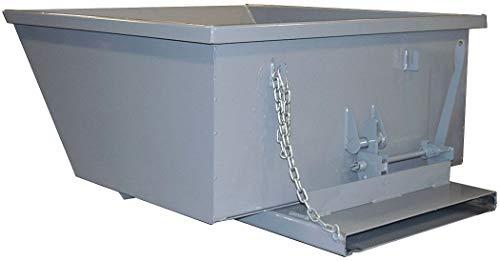 (Gray Self-Dumping Hopper, 27.0 cu. ft, 5000 lb. Load Cap, 24