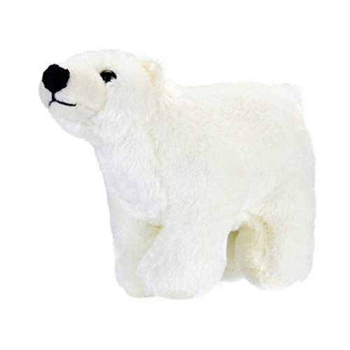 (CMrtew ❤️ 1Pc 5.12x8.66inch Kawaii Plush Polar Bear Stuffed Baby Kids Toys for Girls Birthday Peluches Animal Plush Snow White Bear (White, 13x22cm))