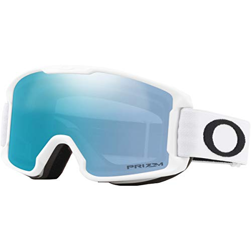 Oakley Line Miner Youth Asian Fit Snow Goggle, Matte White, Small, Prizm Sapphire Iridium Lens (Youth Ski Goggles Oakley)