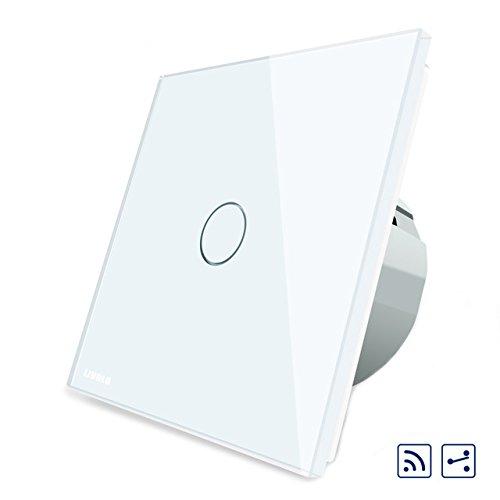 ZHENWOFC ホワイトガラスタッチパネル中型&リモートEUスイッチVL-C701SR-11   B07PQGQQXV