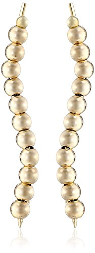 The Ear Pin 10k Yellow Gold Continuous Mini Beads Earrings
