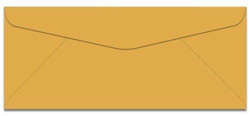 Commercial Flap No 10 - No. #10 Business Envelopes - Goldenrod Color - 500 BX - Commercial Flap - 4 1/8