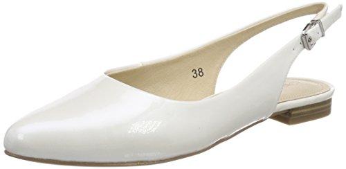 Caviglia Caprice alla Cinturino con Sandali White 123 Patent Bianco 29402 Donna ZxSqXrZw