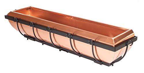 H Potter Copper Window Box Hanging Flower Deck Planter 36