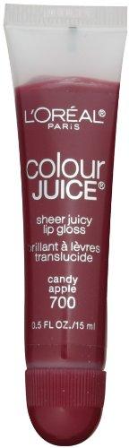 L'Oréal Paris Colour Juice Sheer Lip Gloss Juicy, pomme de sucrerie, Once 0,5-Fluid