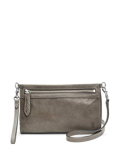 FRYE Reed Leather Wristlet Crossbody Bag, dove