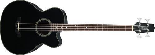 Takamine G Series GB30CE-BLK Jumbo Acoustic Electric Bass Guitar, Venetian Cutaway, Black