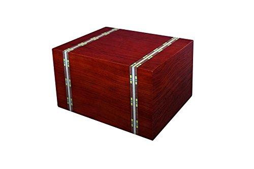 Engravable Slide (Chateau Urns Marseille Series Wood Urn, Adult Cremation Urn, Large wood urn)