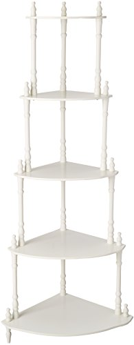 Frenchi Furniture - 5-Tier Corner Stand Finish: White by Frenchi (Image #3)