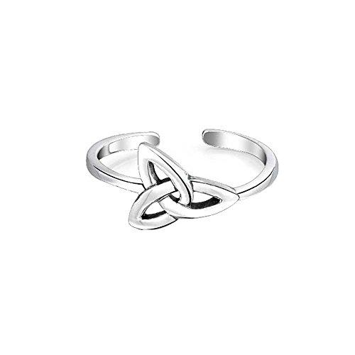 Toe Celtic 14k Ring (Jalash Celtic Knot Midi Toe Ring in 14K White Gold Finish for Her)
