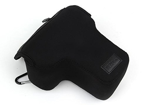 NEOpine NE-SLR-S Triangle Elastic Neoprene Camera Case for Canon Rebel XSi XTi T1i T2i with 18-55mm Lens + MicroFiber Clean Cloth - Black Canon Rebel Xti Camera Case