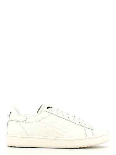 EA7 New Classic Leather Trainers White