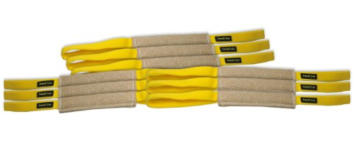 Dean & Tyler Bundle of 9 Pocket Puppy Tugs for Pets, Jute, 8-Inch by 2-Inch by Dean & Tyler