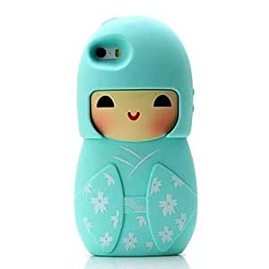 WEV Kimono Doll Pattern Case for iPhone 5/5S (Assorted Color) , Rose
