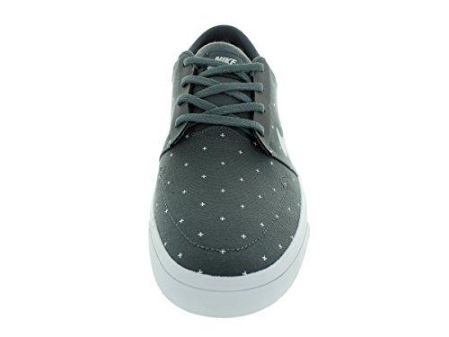 Nike Mens Sb Portmore Cnvs Scarpe Da Skate Premium Grigio Scuro / Bianco / Verde Pino / Bianco