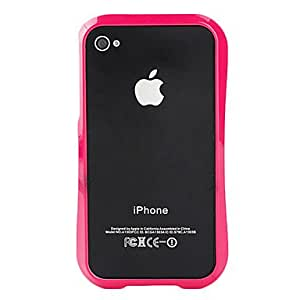 Fashion Design Bumper Case for iPhone 4 and 4S (Assorted Colors) --- COLOR:Blue
