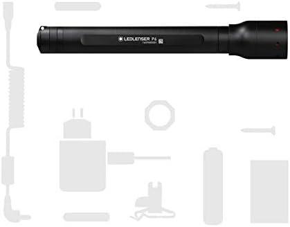 Ledlenser P6 Professional LED Torch, aluminium, Black