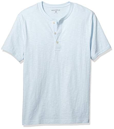 J.Crew Mercantile Men's Short-Sleeve Slub Cotton Henley, Classic Sky, XS
