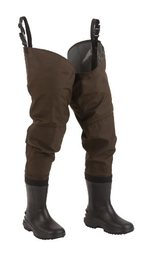 Hodgman Redstone Nylon/Rubber Hip Wader With Cleated Soles, 8