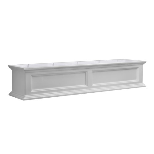 Mayne Fairfield 5824W Window Box Planter, 5-Foot, White