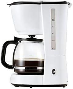 Cafetera de goteo con filtro y jarra de cristal, color blanco ...