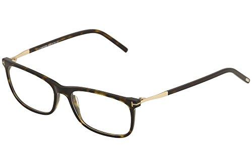 TOM FORD TF 5398 052 Dark Havana Clear Rectangular Eyeglasses - Ford Glasses 55mm Tom Optical