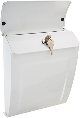 White Wall Mount Mailbox (Architectural Mailboxes 2594W Aspen Locking Wall Mount Mailbox White Aspen Locking Wall Mount Mailbox, Small)