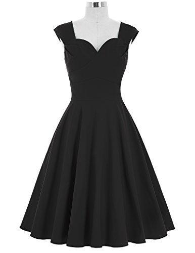Yafex - Vestido para mujer Estilo 2 Negro