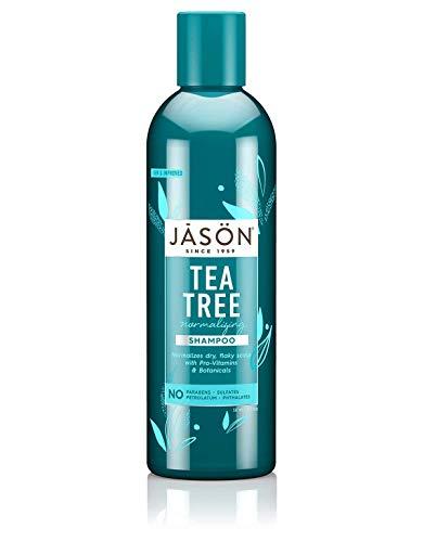 Jason Naturals - Tea Tree Normalizing Shampoo, Normalizes Dry Flaky Scalps with Pro-Vitamins & Botanicals, No Parabens, No Sulfates (17.5 oz)