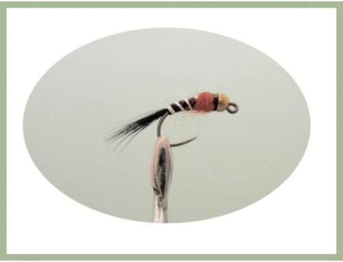 6 Muster 18 St/ück Fliegenfischen Troutflies UK Ltd Jig Nymphen Gr/ö/ße 12 bis 16 Forellenfliegen ohne Widerhaken