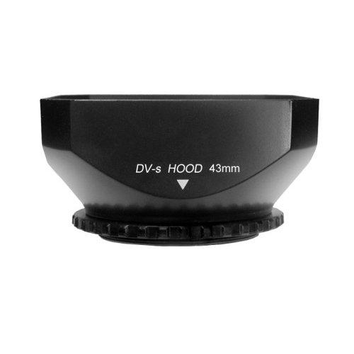 CowboyStudio 43mm DV-s DV Screw Mount Lens Hood with Cap for Digital Video Camera and Camcorder, Sun Shade (Sun Light Ring)
