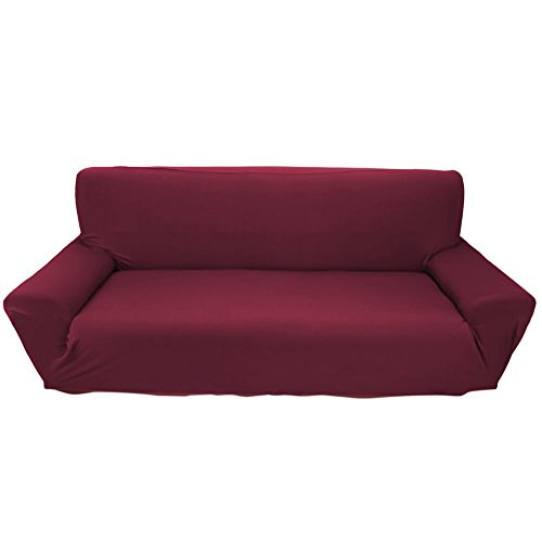 Elastic Anti Wrinkle Couch Covers Solid Color Stylish Sofa
