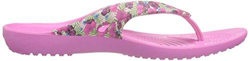 crocs Damen Kadeeiilprdflp Pantoffeln Pink (Pink/Floral)
