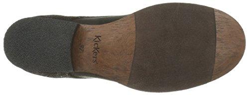 Kickers Pluz, Bottes Classiques Femme Noir (Noir Brillant)