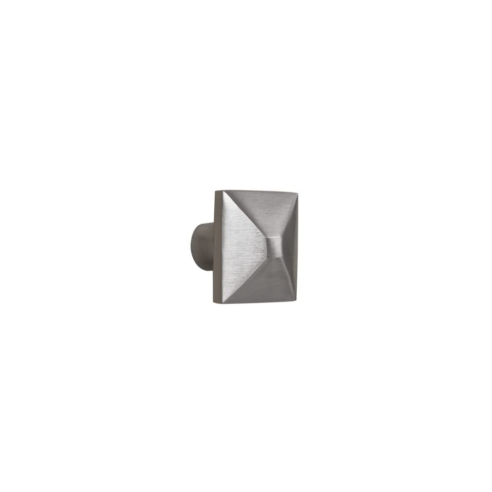 1 Solid Brass Square Cabinet Knob   Brushed Nickel