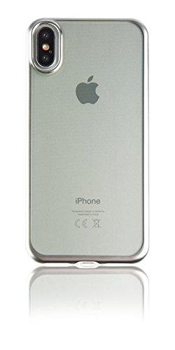 Spada 4052335032771 Electro-Style Soft-Hülle für Apple iPhone X silber