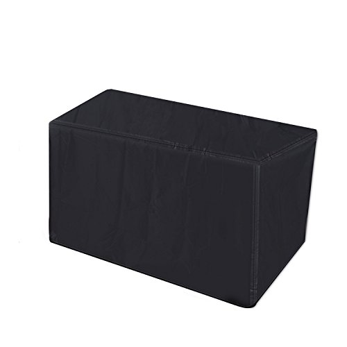 Barbecue Grill Cover - Durable Polyester Waterproof, Small 56-inch (Black) (Veranda Cart Bbq Cover)