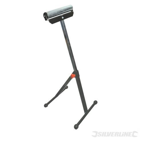 Power Tools Workshop Roller Stand Adjustable 685mm - 1080mm Adjustable roller stand supports large workpieces up to 60kg kilogram kilograme. Chrome-plated roller with heavy duty steel base. Height adjustable from 685 to 1080mm. SILVERL